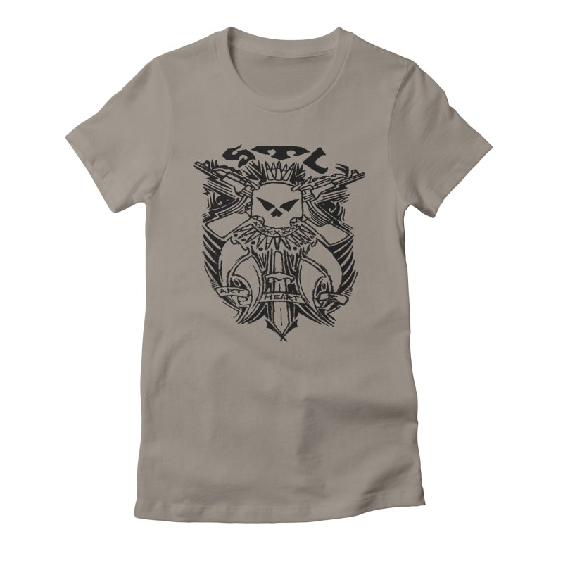 STL Savage Women's Fitted T-Shirt by ArtHeartB