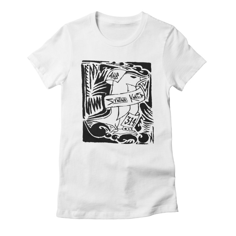 Stone Kold Women's Fitted T-Shirt by ArtHeartB