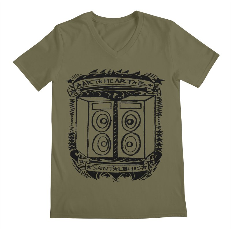 The Big Speakers Men's V-Neck by ArtHeartB