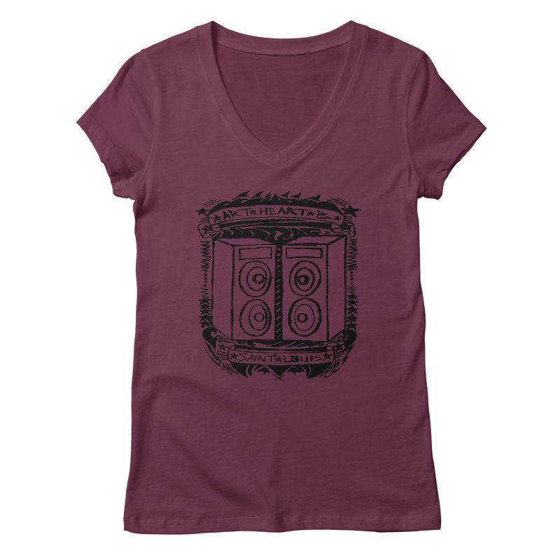 The Big Speakers Women's V-Neck by ArtHeartB