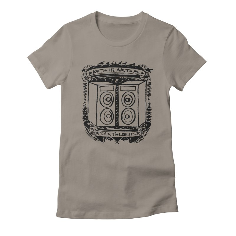 The Big Speakers Women's Fitted T-Shirt by ArtHeartB