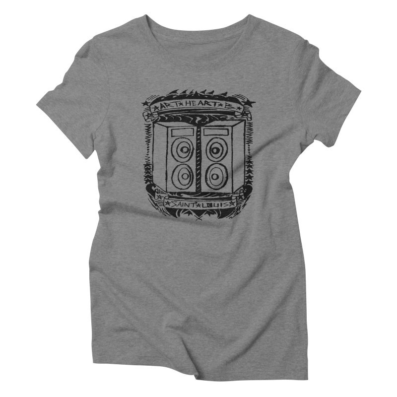 The Big Speakers Women's Triblend T-shirt by ArtHeartB