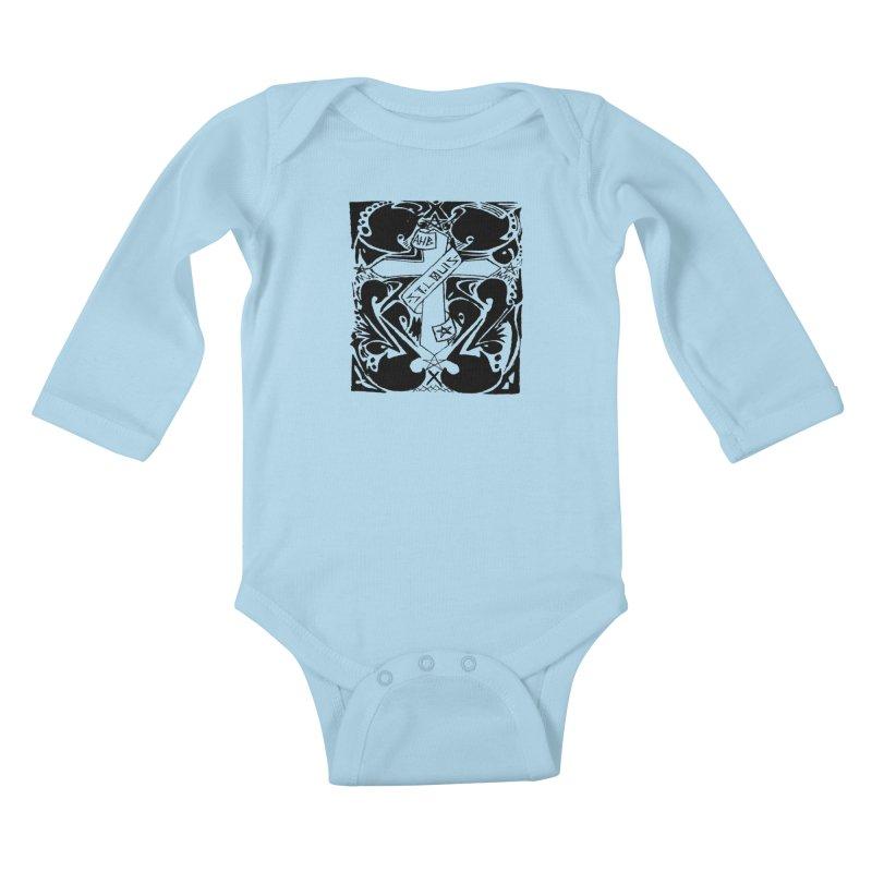 Tribal Kross Kids Baby Longsleeve Bodysuit by ArtHeartB