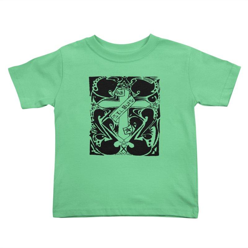 Tribal Kross Kids Toddler T-Shirt by ArtHeartB