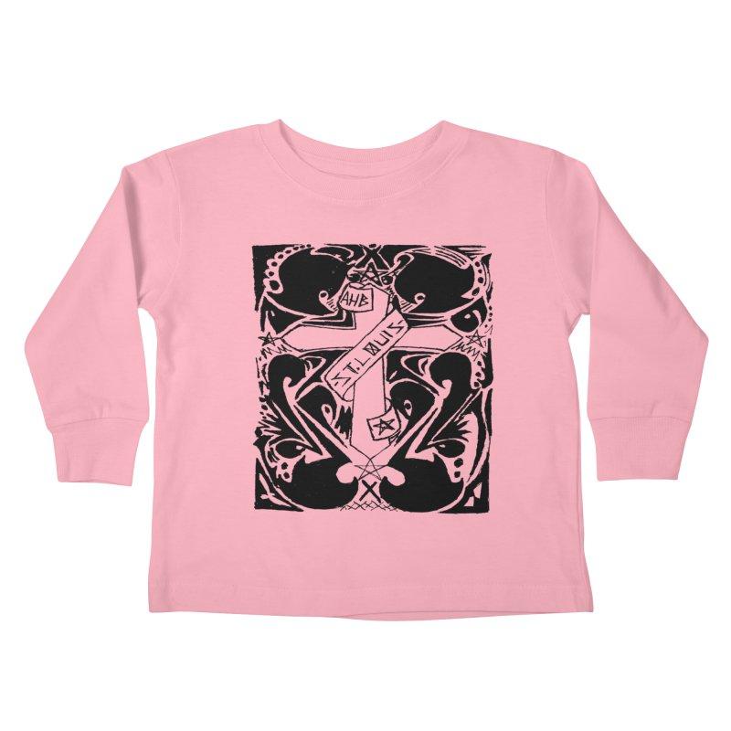 Tribal Kross Kids Toddler Longsleeve T-Shirt by ArtHeartB