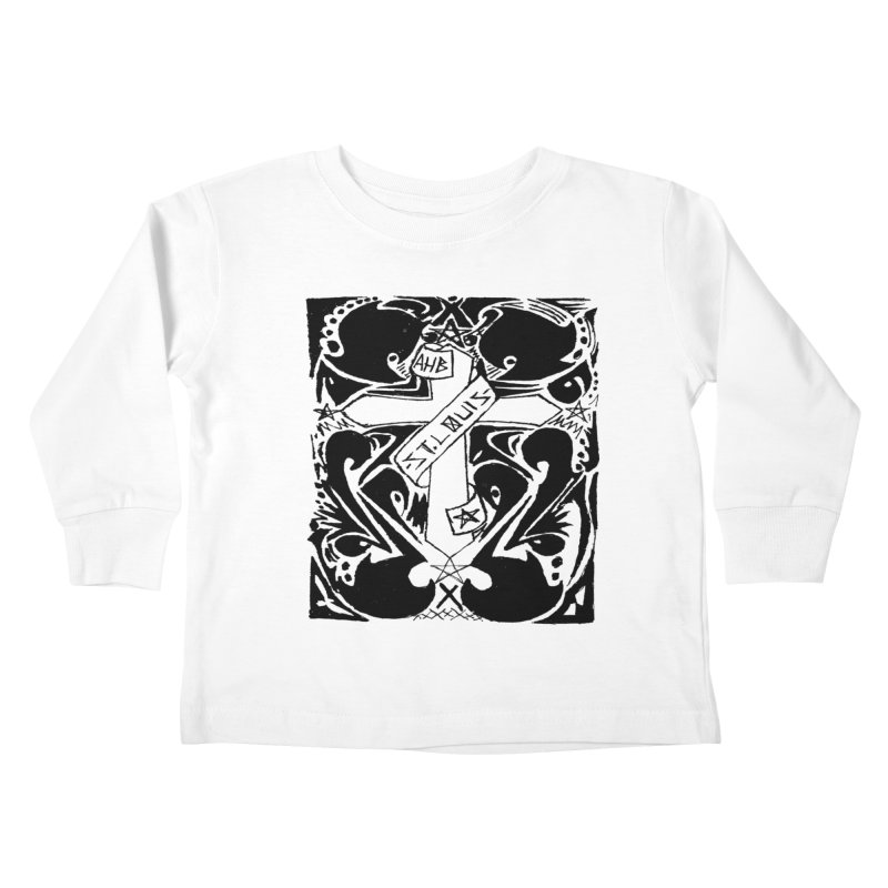 Tribal Kross Kids Toddler Longsleeve T-Shirt by ArtHeartB