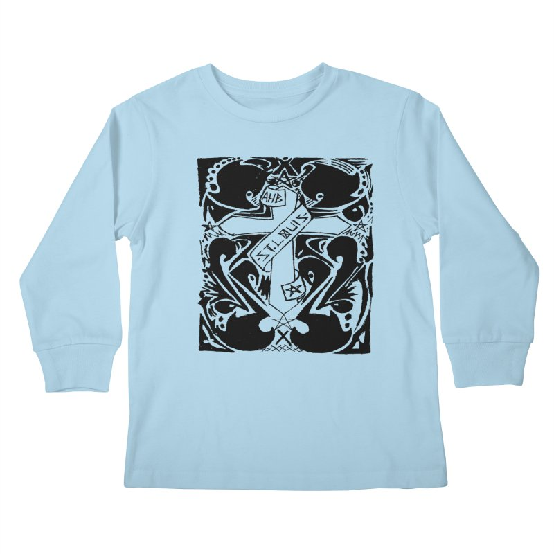 Tribal Kross Kids Longsleeve T-Shirt by ArtHeartB