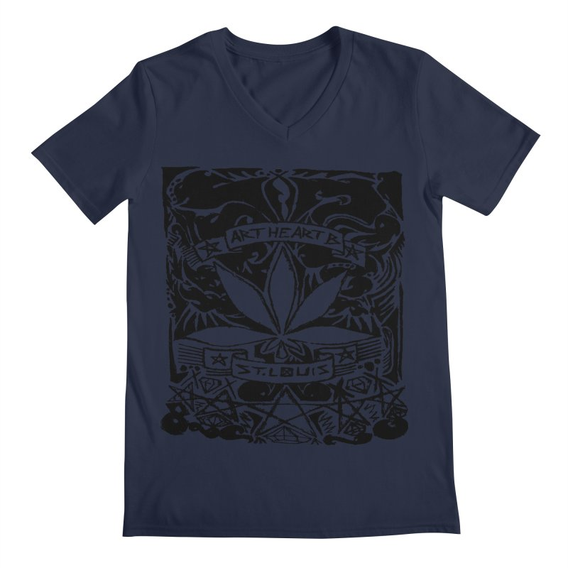 Weed And Diamonds Men's V-Neck by ArtHeartB