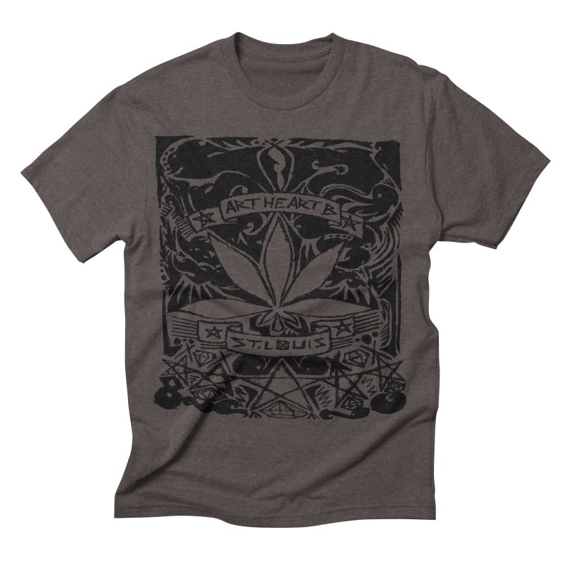 Weed And Diamonds Men's Triblend T-shirt by ArtHeartB