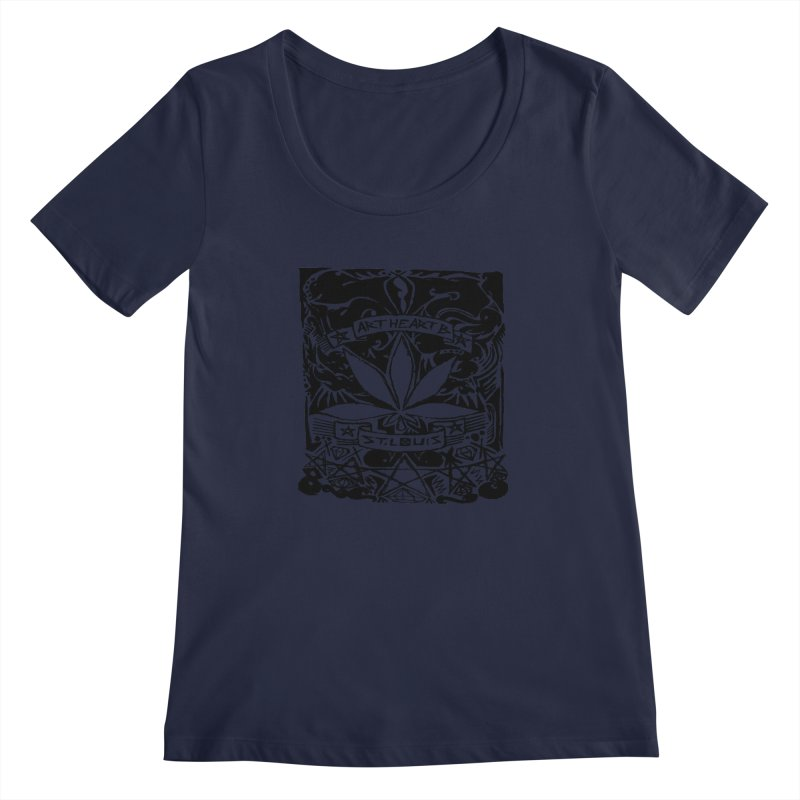 Weed And Diamonds Women's Scoopneck by ArtHeartB