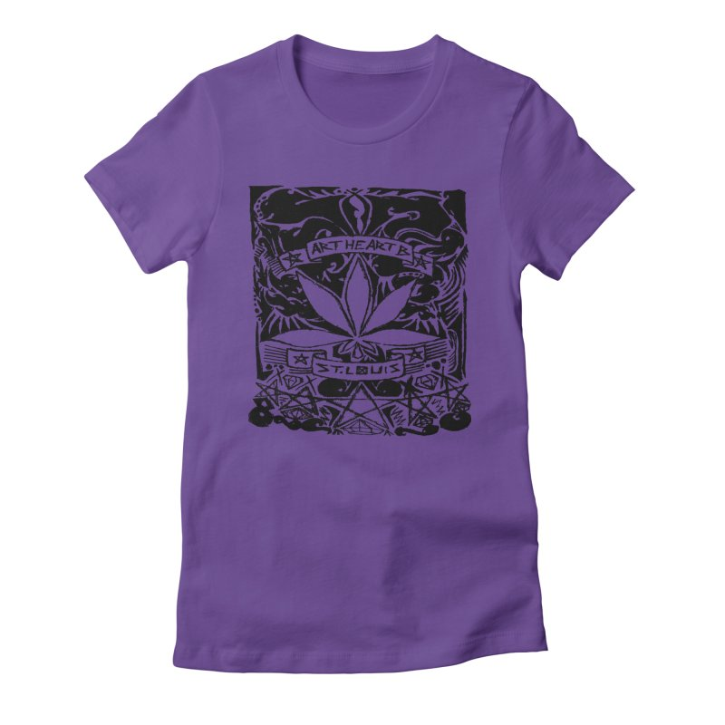 Weed And Diamonds Women's Fitted T-Shirt by ArtHeartB