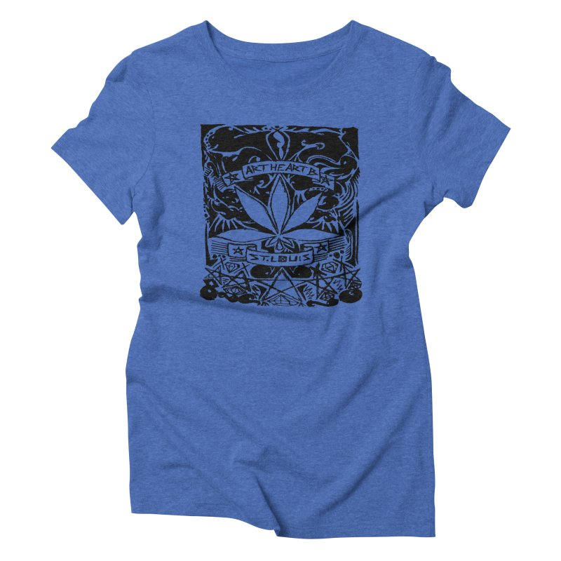Weed And Diamonds Women's Triblend T-Shirt by ArtHeartB