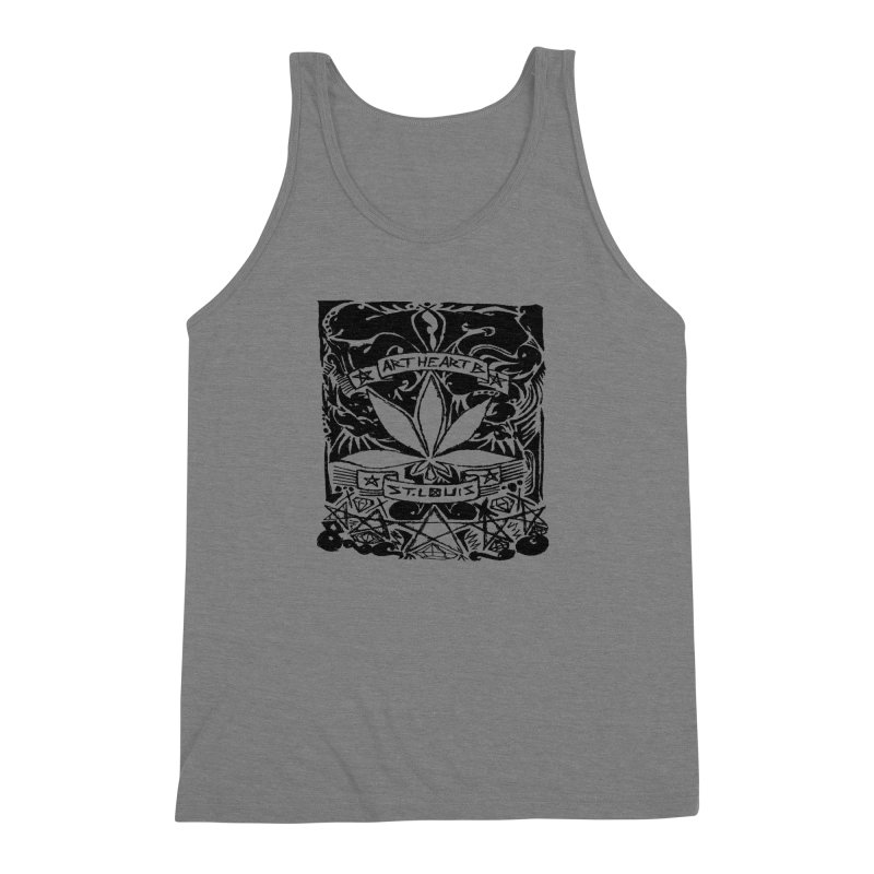 Weed And Diamonds Men's Triblend Tank by ArtHeartB