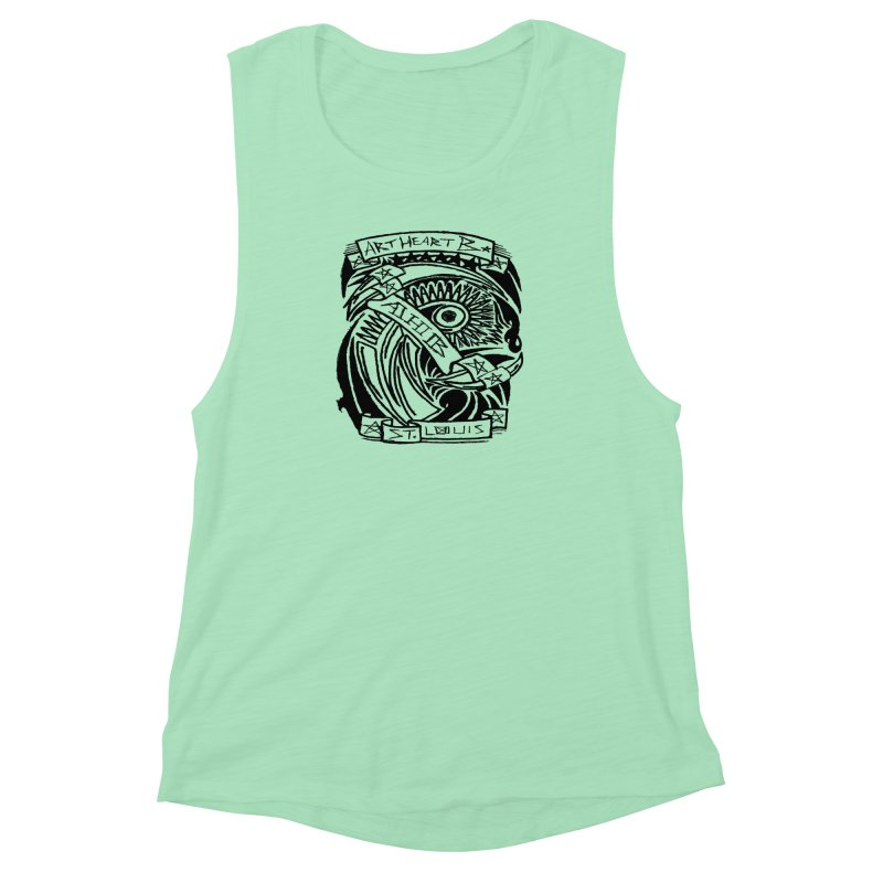 Yah! Yah! Women's Muscle Tank by ArtHeartB