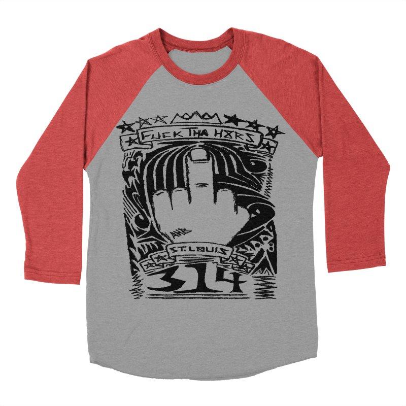Fuck Tha H8rs Women's Baseball Triblend T-Shirt by ArtHeartB