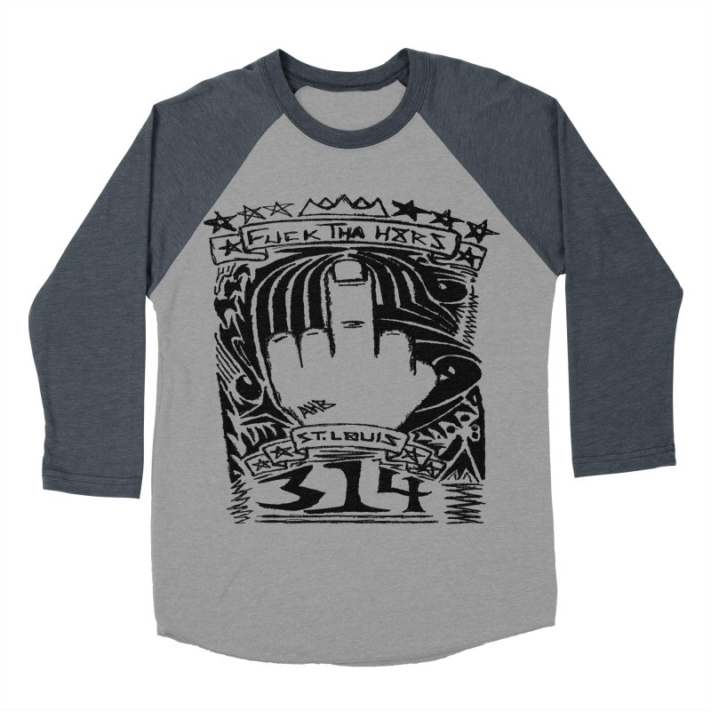 Fuck Tha H8rs Men's Baseball Triblend T-Shirt by ArtHeartB