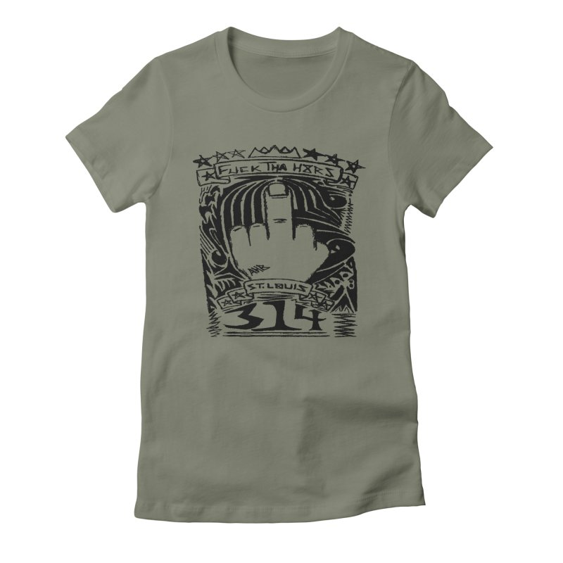 Fuck Tha H8rs Women's Fitted T-Shirt by ArtHeartB