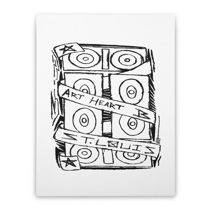 Bass bAsS BASS! Home Stretched Canvas by ArtHeartB