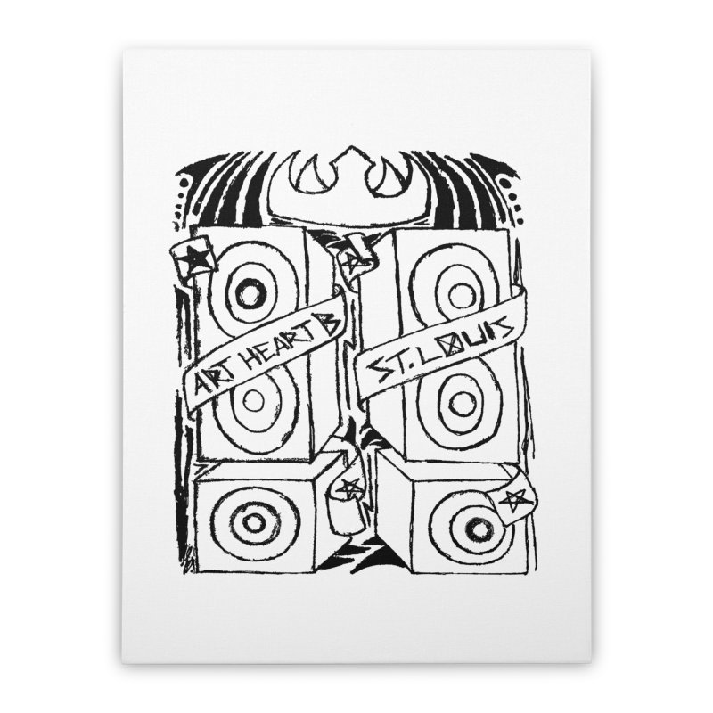 Bass Twins Home Stretched Canvas by ArtHeartB