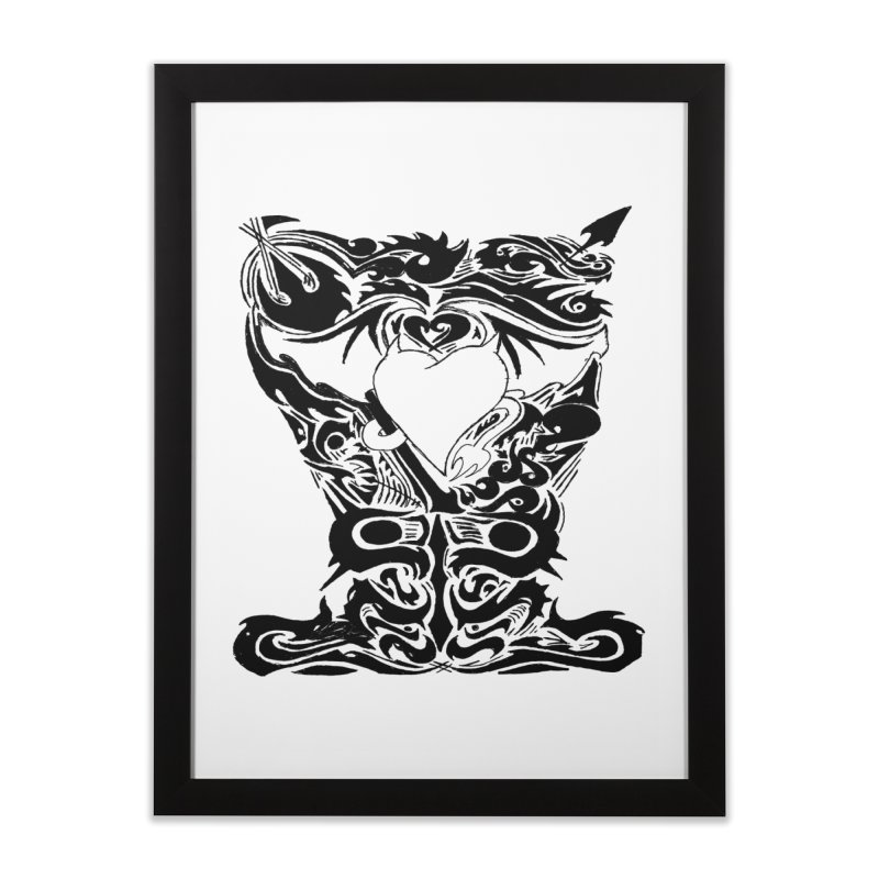 Dark Heart Home Framed Fine Art Print by ArtHeartB