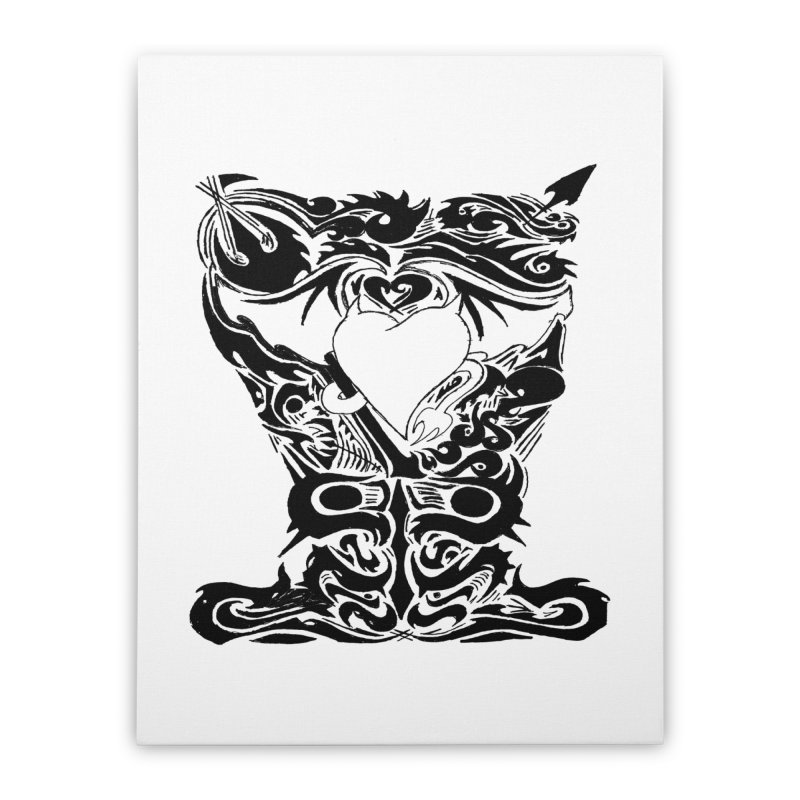 Dark Heart Home Stretched Canvas by ArtHeartB