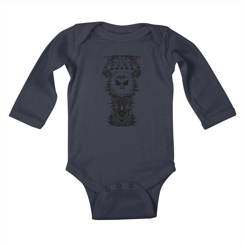 King Vicious  Kids Baby Longsleeve Bodysuit by ArtHeartB