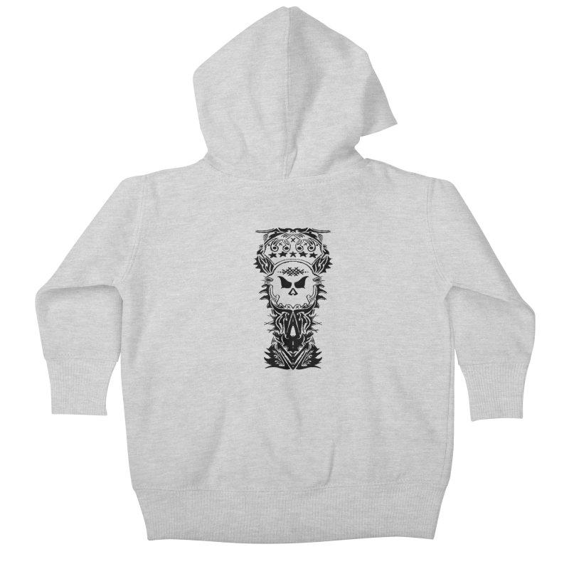 King Vicious  Kids Baby Zip-Up Hoody by ArtHeartB