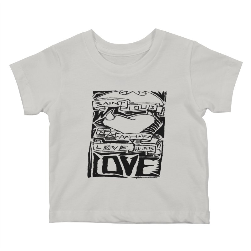 Love Hurts Kids Baby T-Shirt by ArtHeartB