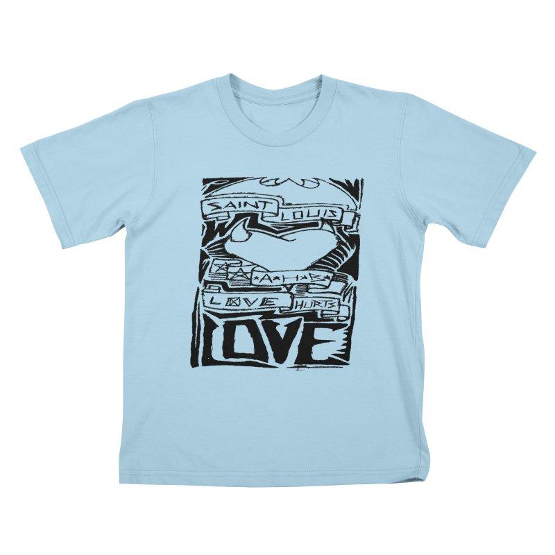 Love Hurts Kids T-shirt by ArtHeartB