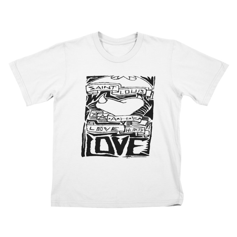 Love Hurts Kids T-Shirt by ArtHeartB