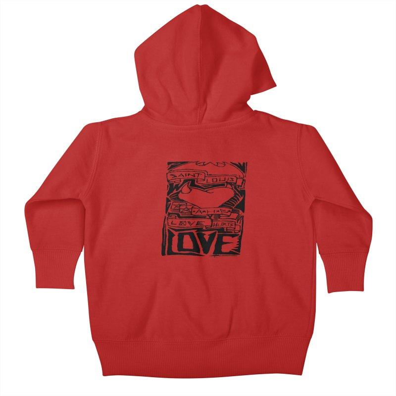 Love Hurts Kids Baby Zip-Up Hoody by ArtHeartB