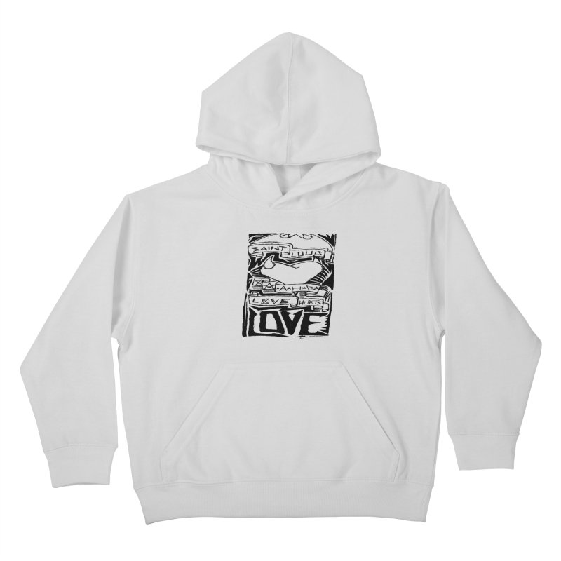 Love Hurts Kids Pullover Hoody by ArtHeartB