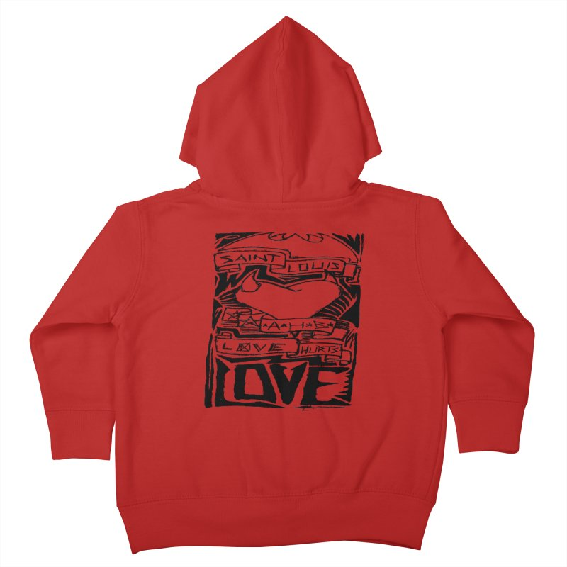 Love Hurts Kids Toddler Zip-Up Hoody by ArtHeartB