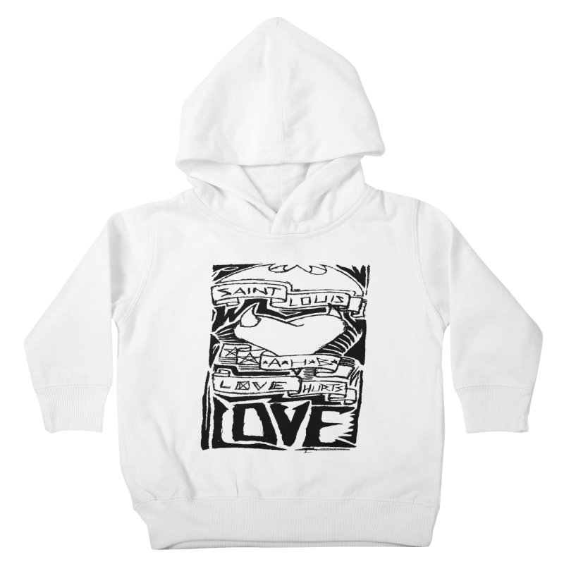 Love Hurts Kids Toddler Pullover Hoody by ArtHeartB