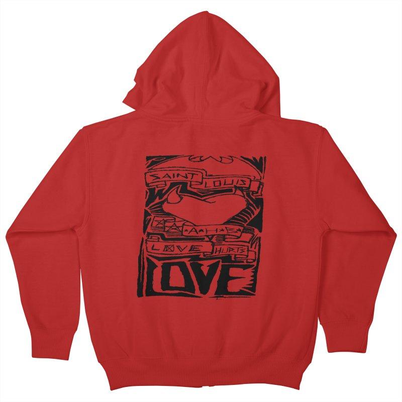 Love Hurts Kids Zip-Up Hoody by ArtHeartB