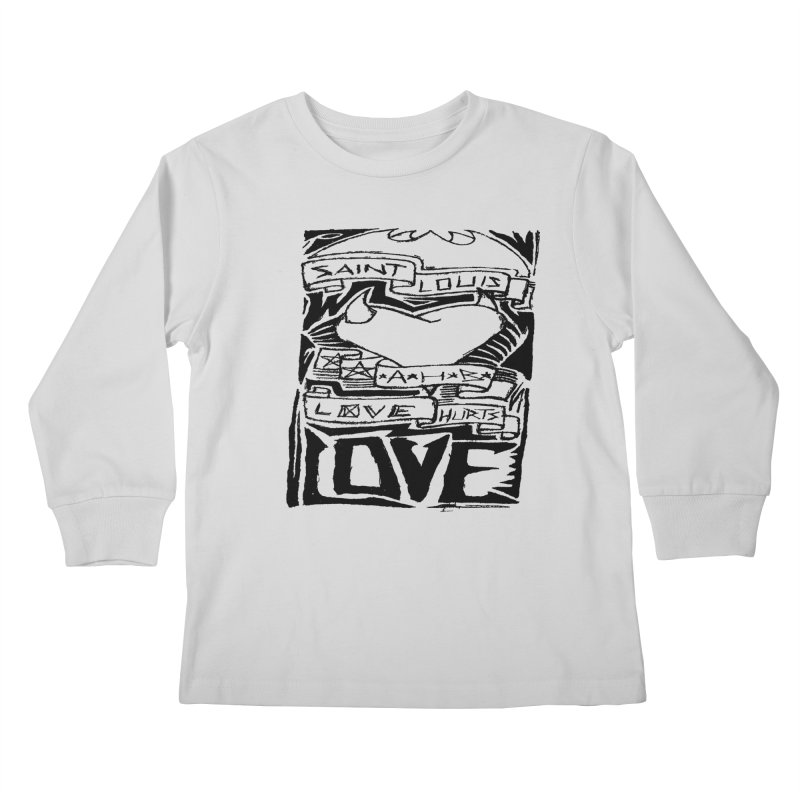 Love Hurts Kids Longsleeve T-Shirt by ArtHeartB
