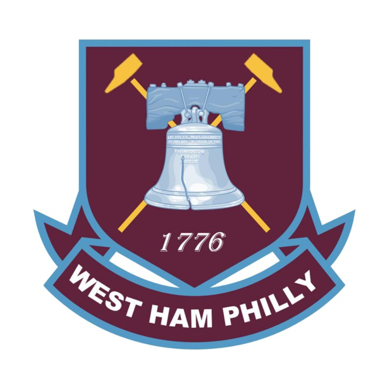 West Ham Philly Men's T-Shirt by American Hammers Official Team Store