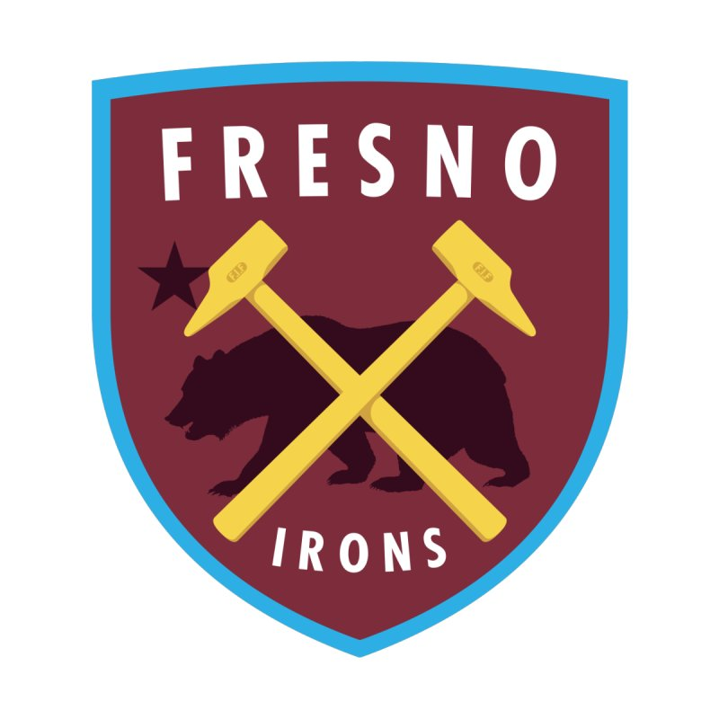 Fresno Irons Men's T-Shirt by American Hammers Official Team Store