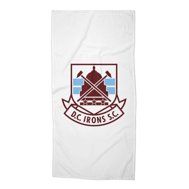 D.C. Irons Accessories Beach Towel by American Hammers Official Team Store
