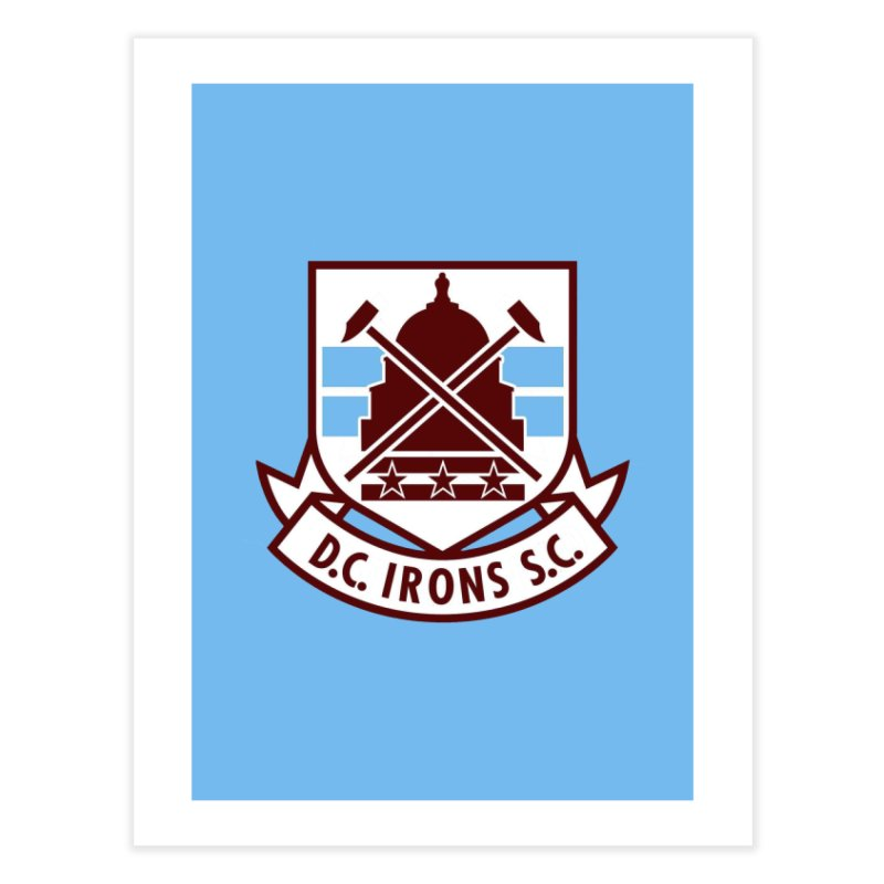 D.C. Irons Home Fine Art Print by American Hammers Official Team Store