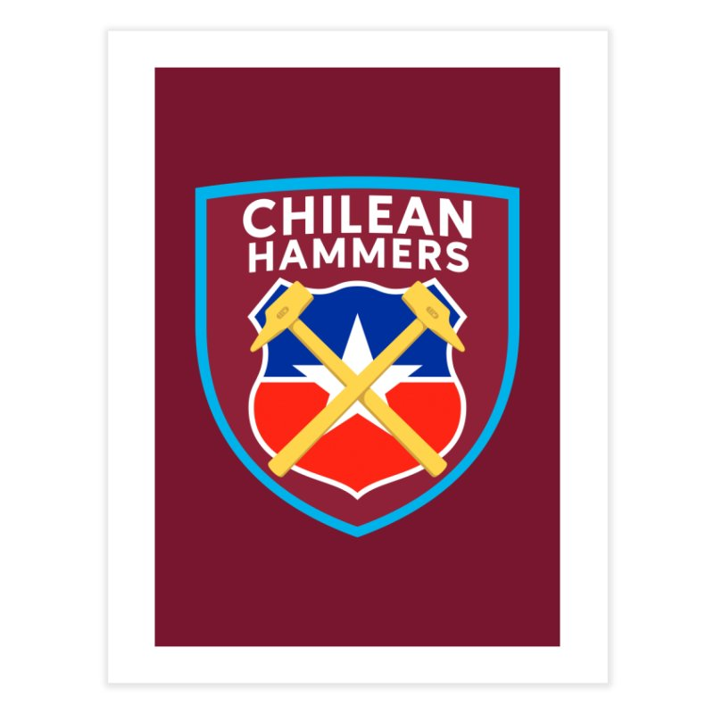 Chilean Hammers Home Fine Art Print by American Hammers Official Team Store
