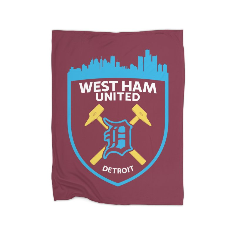 Detroit Hammers Home Blanket by American Hammers Official Team Store