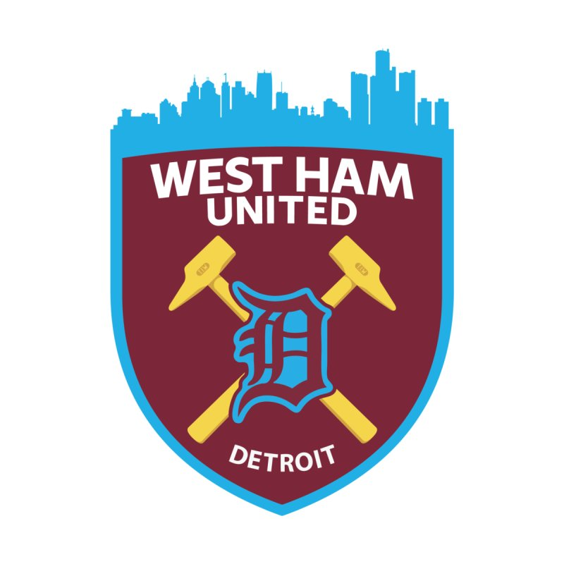 Detroit Hammers Women's T-Shirt by American Hammers Official Team Store