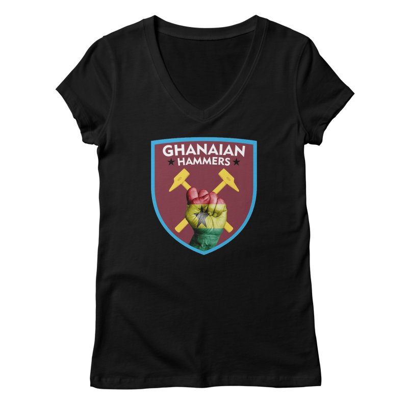 Ghanaian Hammers Women's V-Neck by American Hammers Official Team Store