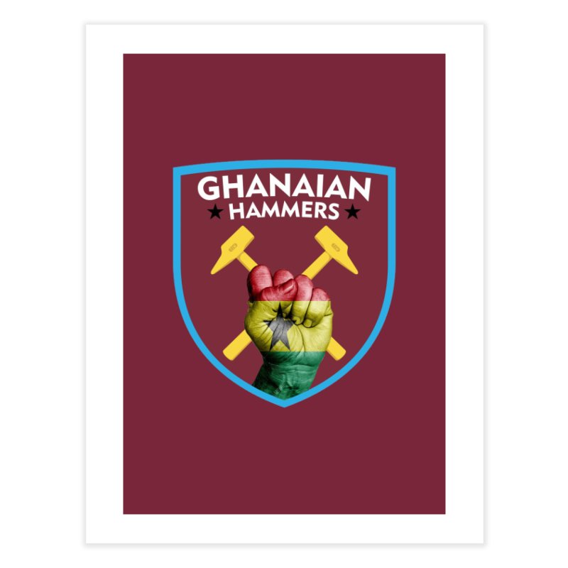 Ghanaian Hammers Home Fine Art Print by American Hammers Official Team Store