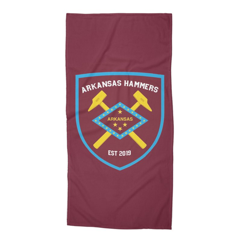 Arkansas Hammers Accessories Beach Towel by American Hammers Official Team Store
