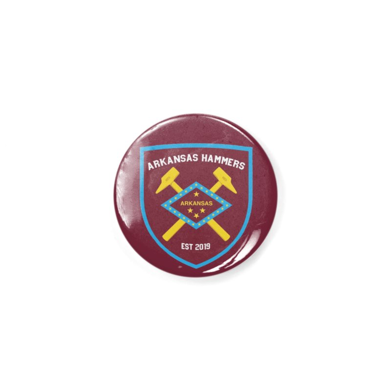 Arkansas Hammers Accessories Button by American Hammers Official Team Store