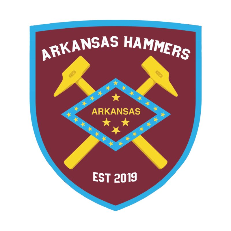 Arkansas Hammers Accessories Sticker by American Hammers Official Team Store