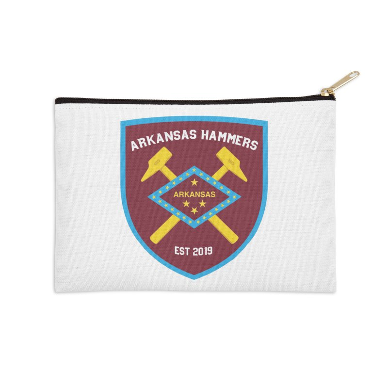 Arkansas Hammers Accessories Zip Pouch by American Hammers Official Team Store