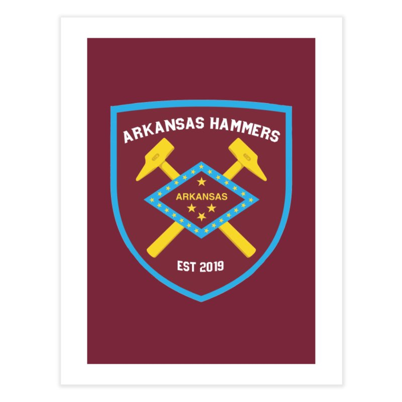 Arkansas Hammers Home Fine Art Print by American Hammers Official Team Store